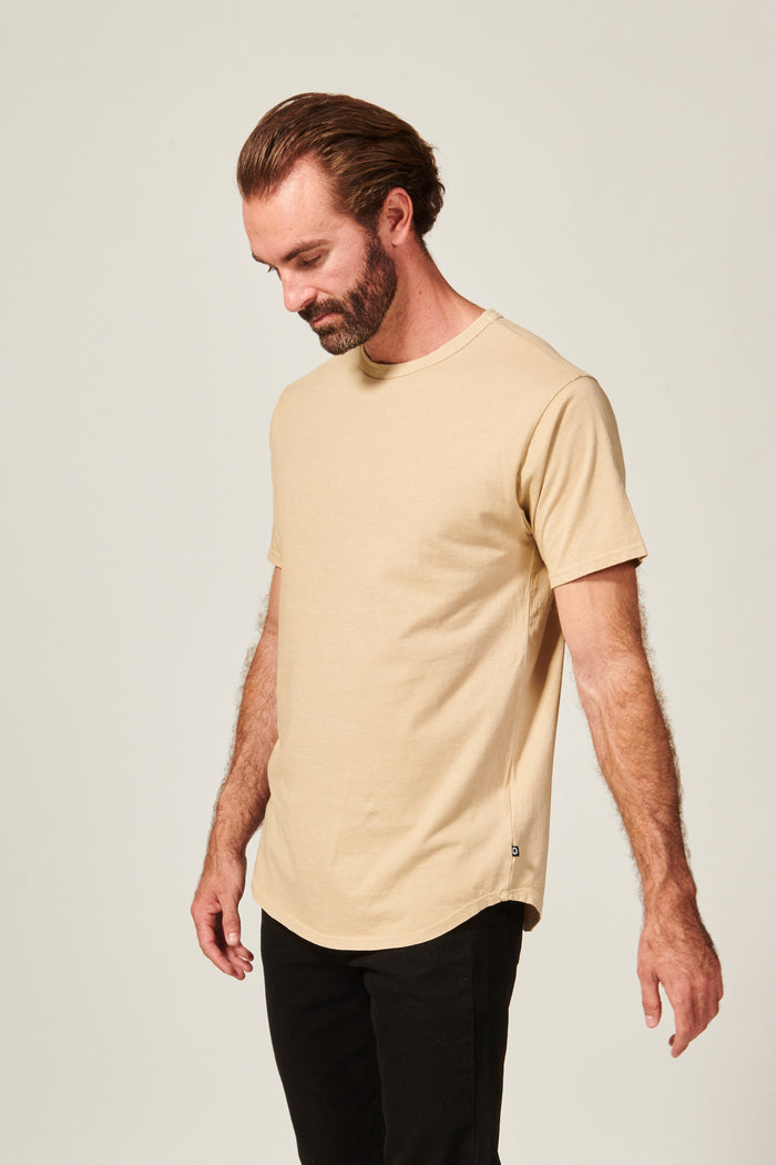 DIME CURVED TEE | SAND - Rustic Dime