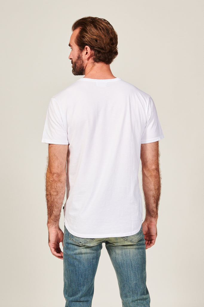 DIME CURVED TEE | WHITE - Rustic Dime - Made in USA