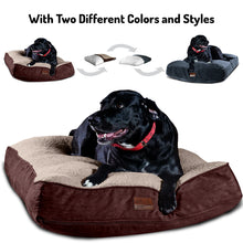 "Load image into Gallery viewer, Super Extra Large Interchangeable 2-in-1 Dog Bed. Includes Two Removable Machine Washable Covers and Waterproof Liner - Gray 48"" L x 30"" W x 8"" H"