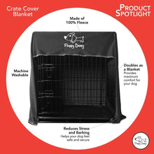 Load image into Gallery viewer, Medium 30 Inch Crate Cover in Slate Gray Polar Fleece