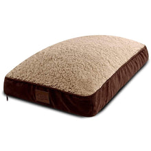 "Load image into Gallery viewer, Dog Bed Replacement Cover. Universal Fit for Pillows 30"" L x 19"" W x 4-8"" H – Medium Brown"