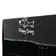 Load image into Gallery viewer, Floppy Dawg Crate Cover Gray Close Up