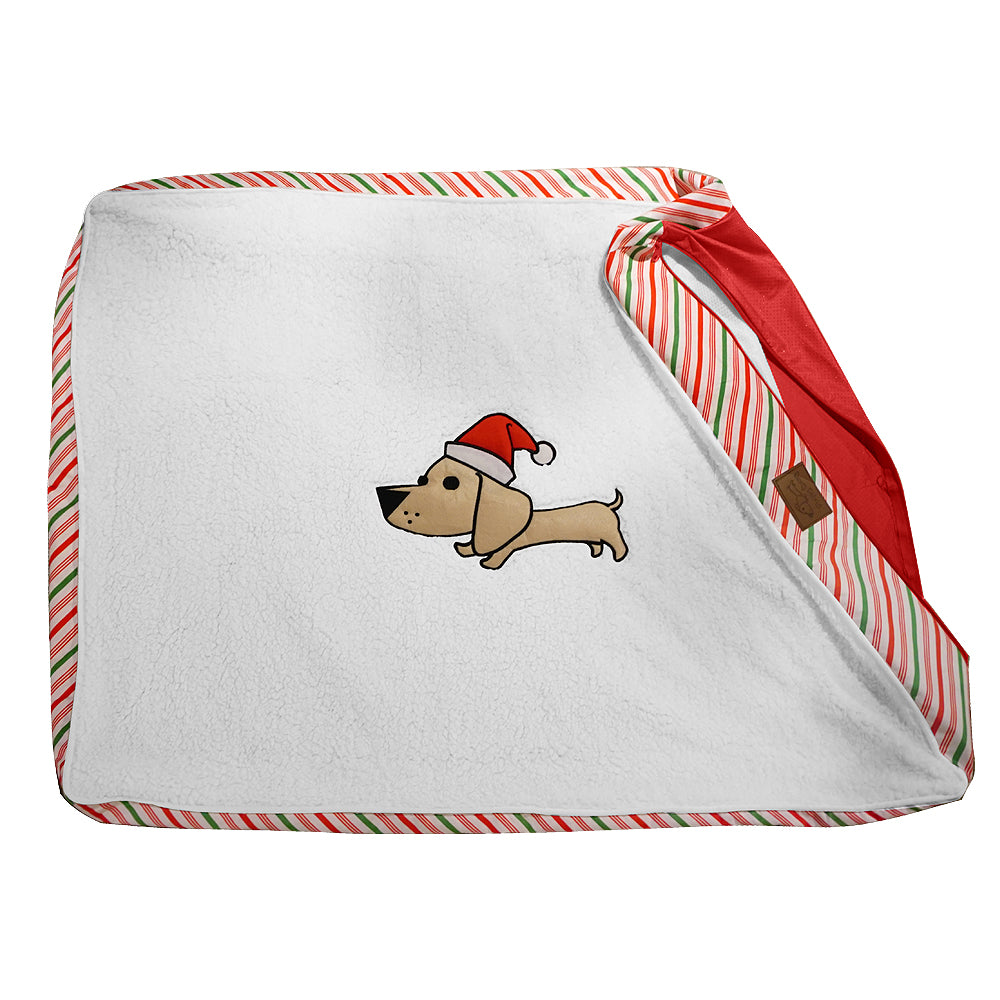 "Large Candy Cane Dog Bed Cover. Universal Fit for Pillows 40"" L x 28"" W x 5-8"" H – Just in Time for the Christmas Holiday."