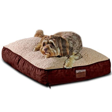 "Load image into Gallery viewer, Medium Dog Bed with Blended Memory Foam, Removable Cover and Waterproof Liner - Brown 30"" L x 19"" W x 8"" H"