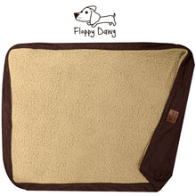 "Load image into Gallery viewer, Dog Bed Replacement Cover. Universal Fit for Pillows 48"" L x 30"" W x 6-8"" H – Extra Large Brown"