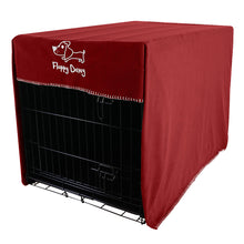 Load image into Gallery viewer, Extra Large 42 Inch Crate Cover in Royal Red Polar Fleece