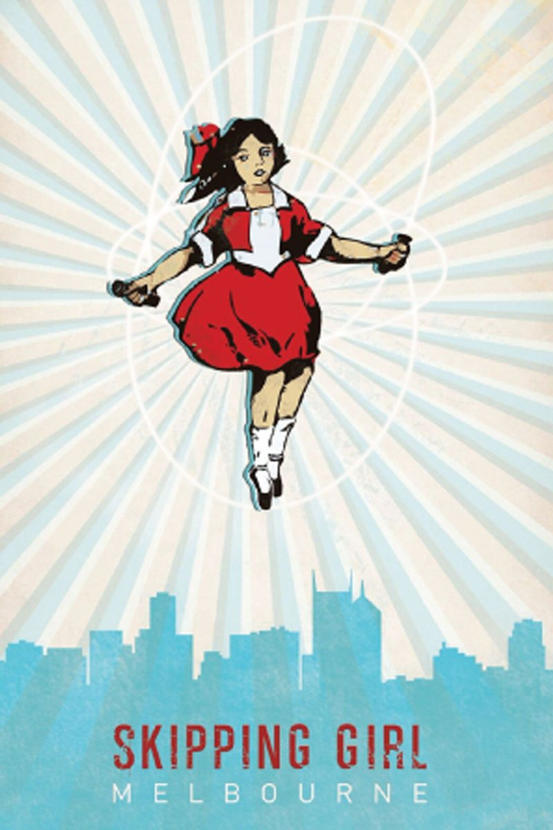 TEA TOWEL – SKIPPING GIRL