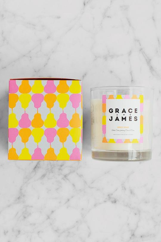 Grace and James Spicy Pear Candle 80 Hour