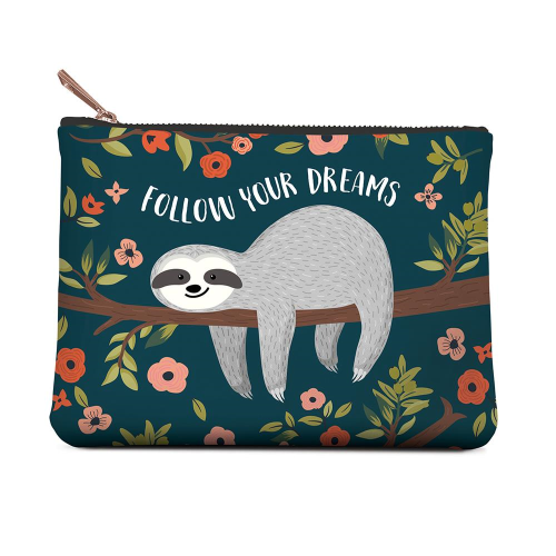 Studio Oh ZIPPERED POUCH MEDIUM - DREAMS SLOTH