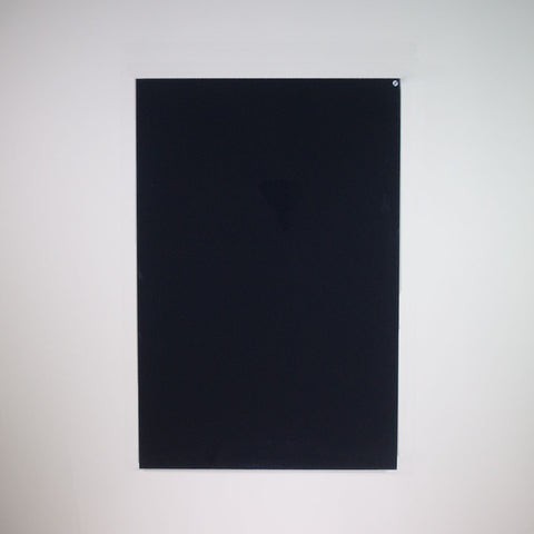 A black glass infrared heating panel.