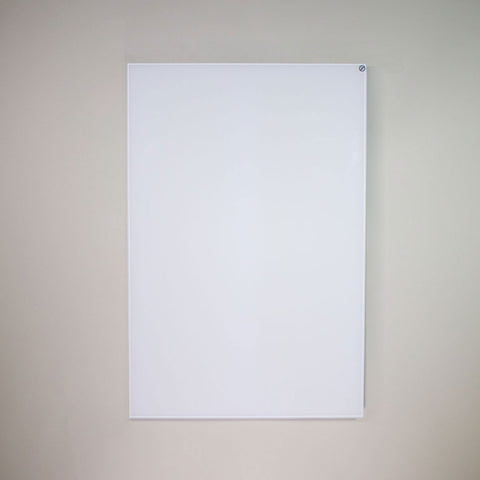 A white glass infrared heating panel.