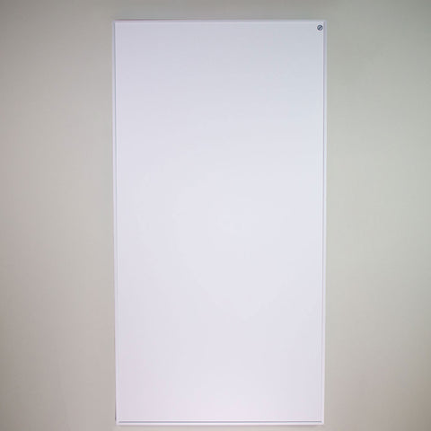An infrared heating panel in the standard white matte finish.