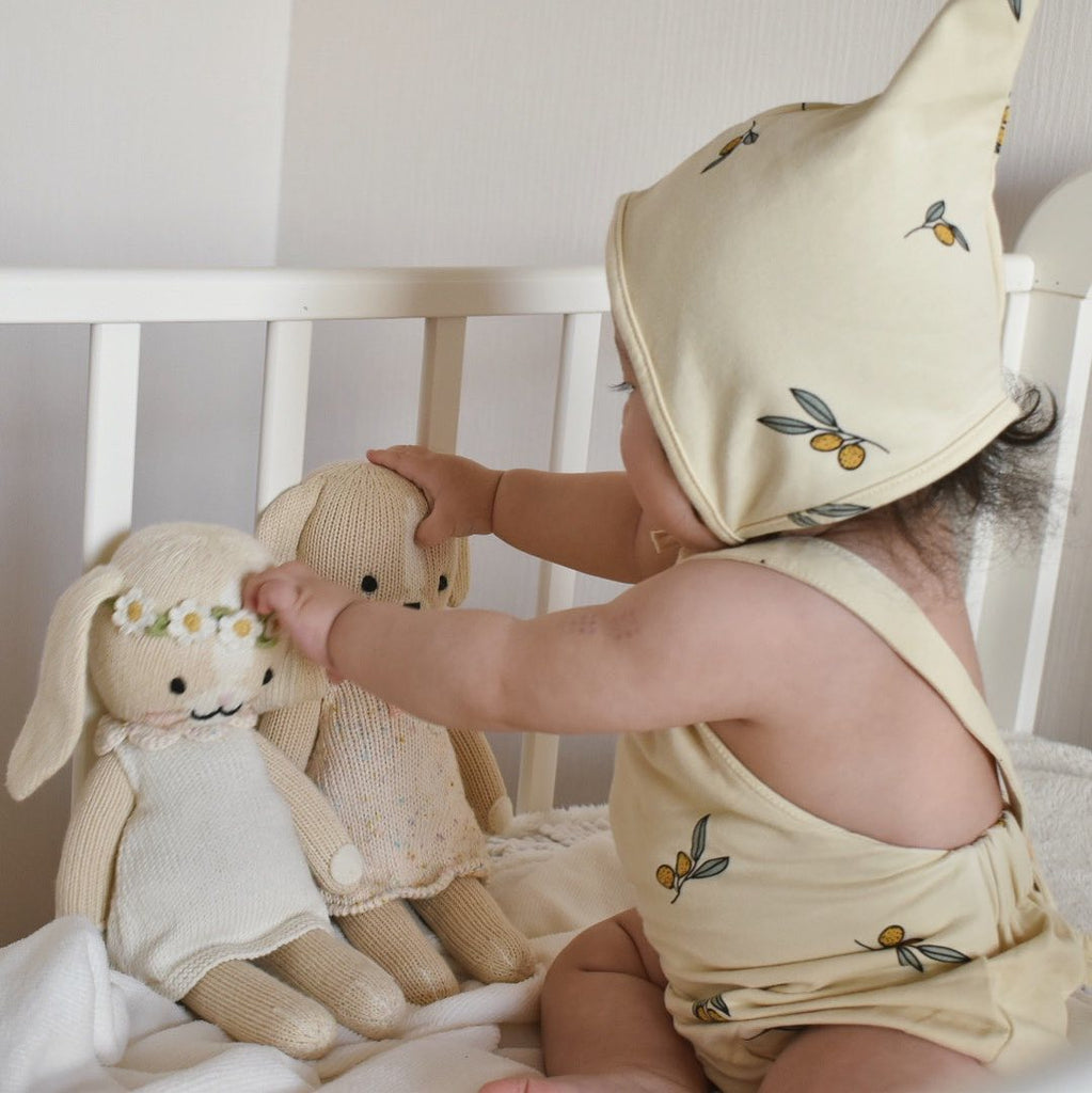 Kai Cotton Sleeveless Onesie + Hat Set - jackandbo.com