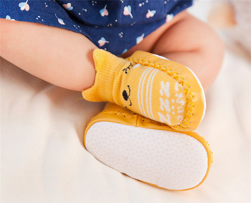 Animal Print Baby Sock Shoes - jackandbo.com