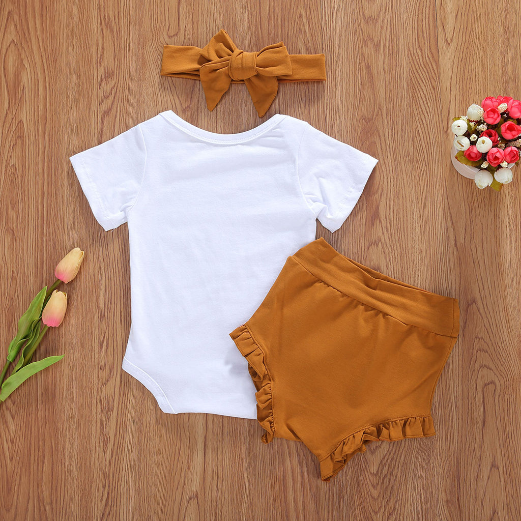 Yara You are My Sunshine Ruffled Shorts Set - jackandbo.com