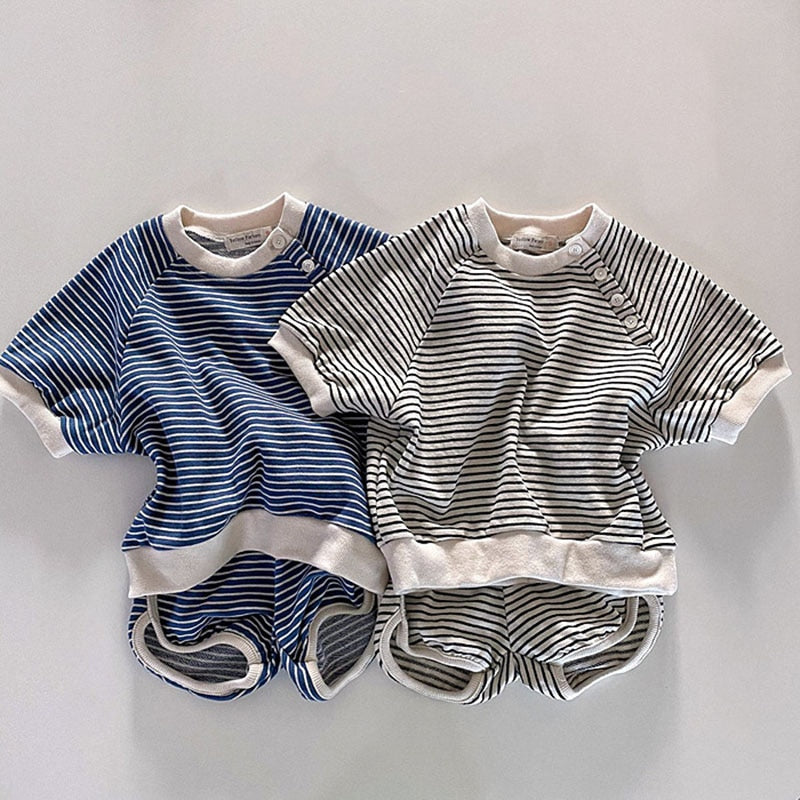 River Striped Cotton Set - jackandbo.com