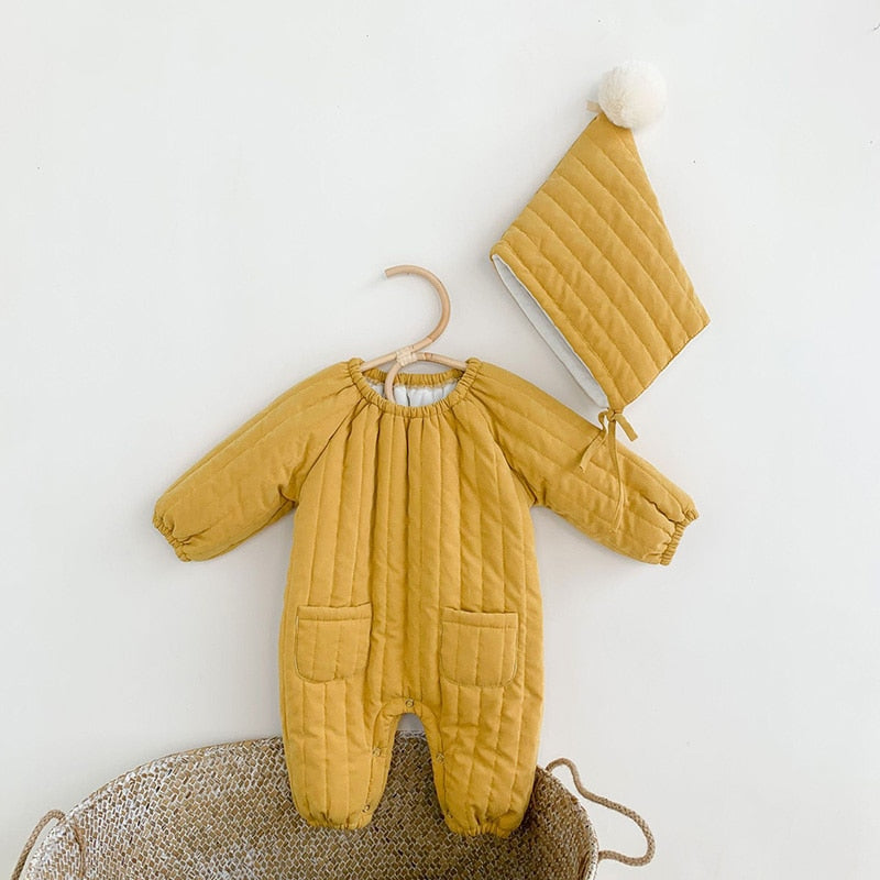 Wyatt Warm Romper + Hat Set - jackandbo.com