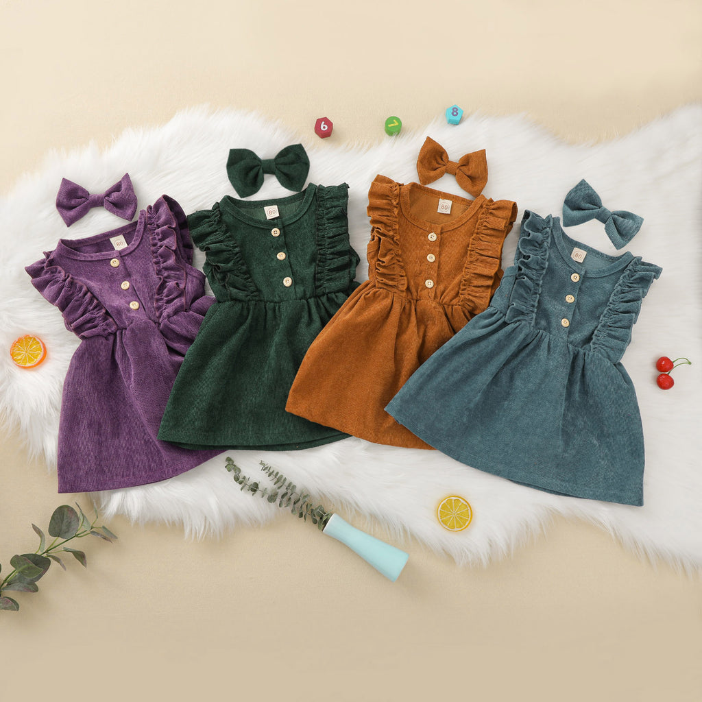 Sleeveless Dress and Bow Hairpin Set - jackandbo.com