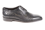 Mercanti Fiorentini Lace-Up - Black Weave (Genuine Leather Upper & Sole)