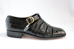 Crockett & Jones Crocodile Sandal - Black (Genuine Leather Upper and Sole)
