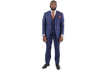 Bagozza 3-Piece Suit - Blue Pin Stripe (100% Wool)
