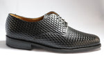 John Drake Derby Weave - Black Weave Vamp Lace-Up (Genuine Leather Upper)