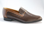 John Drake Doug Weave - Brown Slip-On (Genuine Leather Upper and Sole)