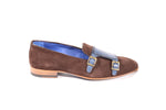 Aliverti Velvet Monk - Brandy & Blue (Genuine Leather Upper & Sole)