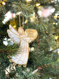 Angel Ornament With Words
