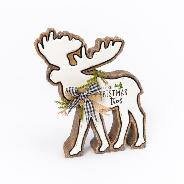 Resin Holiday Moose