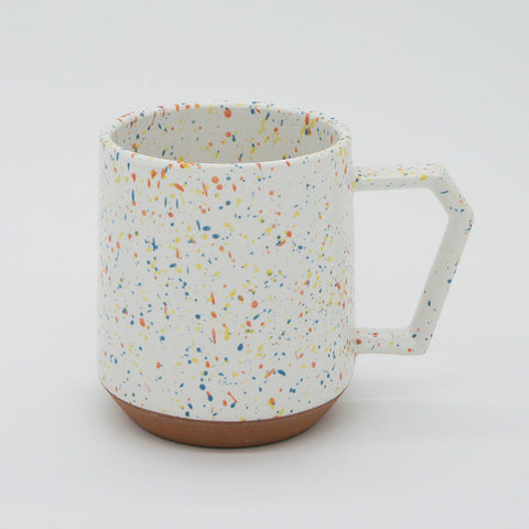 Japanese Mug - White Speckled 12 oz.