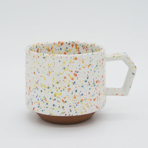 Japanese Mug - White Speckled 9 oz.