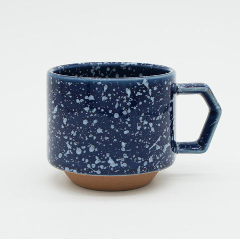 Japanese Mug - Navy Speckled 9 oz.
