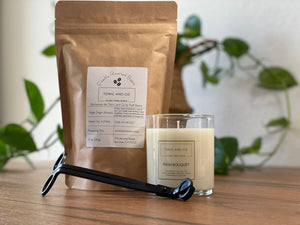 Candle, Wick Trimmer & Coffee Bundle