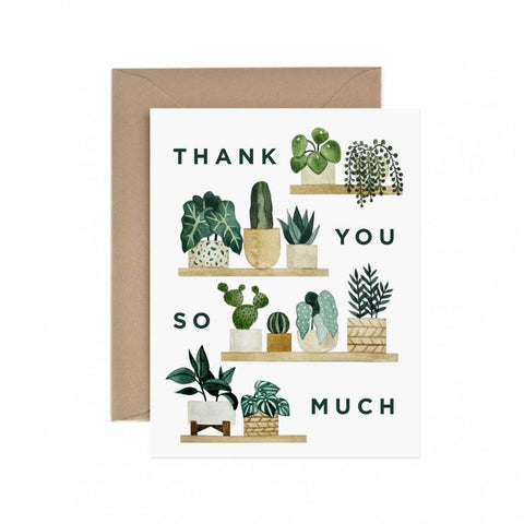 Thank You Plant Shelf Greeting Card
