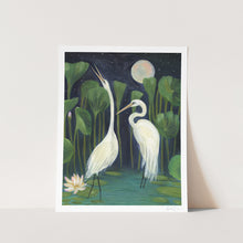 Load image into Gallery viewer, Midnight Egrets Art Print