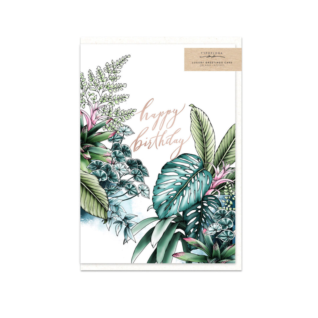 Tropical Happy Birthday Gift Card