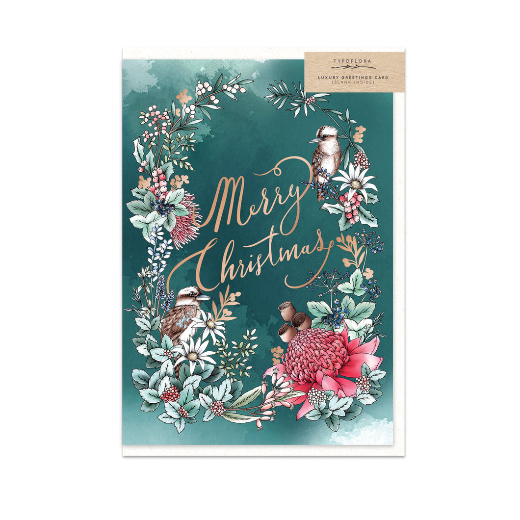 Merry Christmas Kookaburra Gift Card