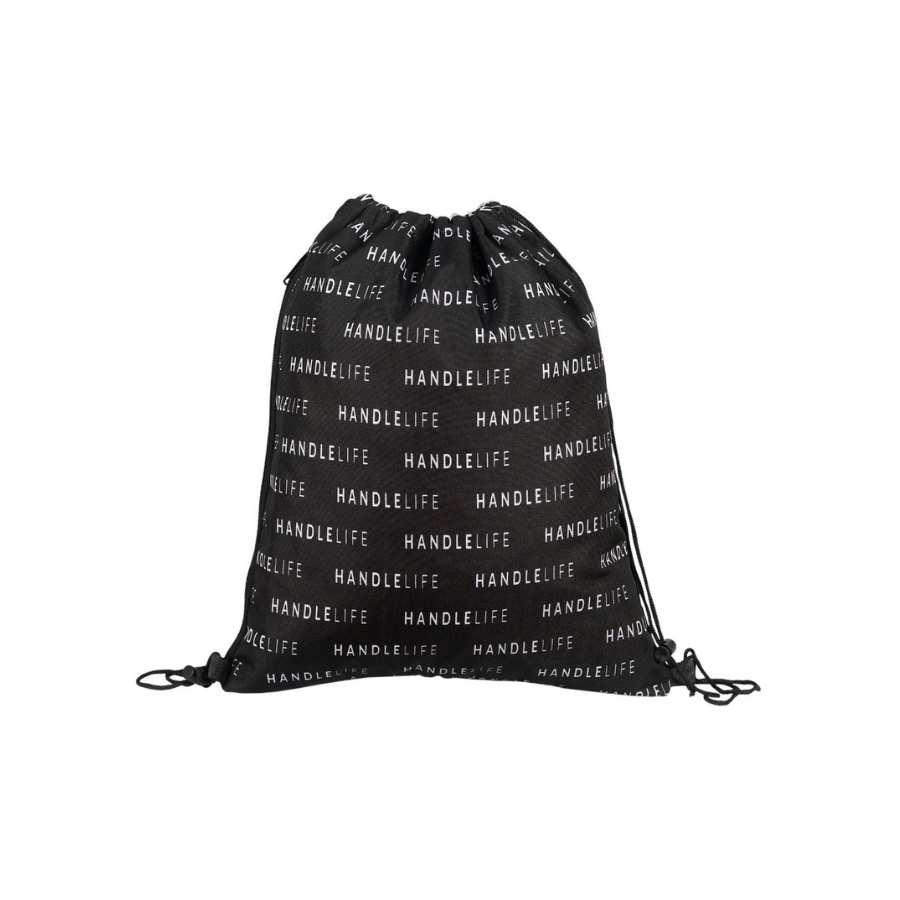HandleLife Drawstring Bag - Black/White Repeat