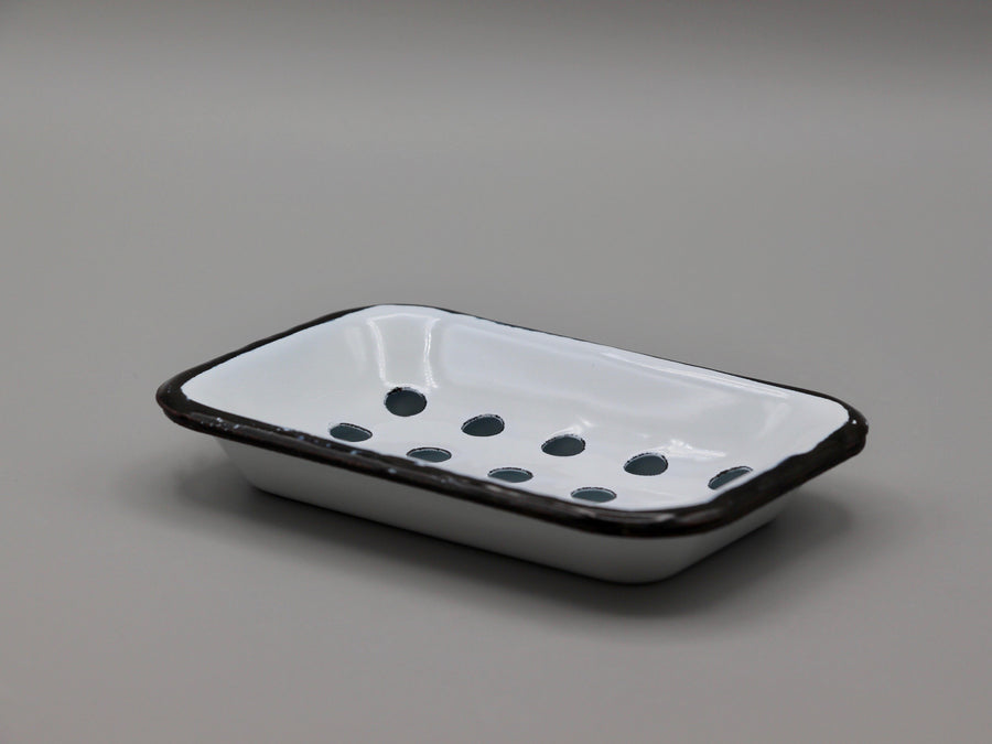 White Rustic Metal Soap Dish