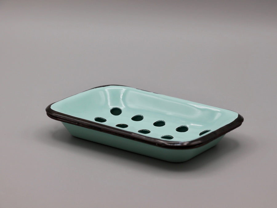 Teal Rustic Metal Soap Dish