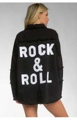 Rock and Roll Distressed Jacket