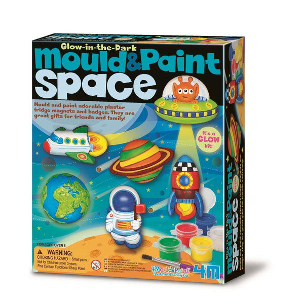 4M Glow-In-The-Dark Mould & Paint - Space
