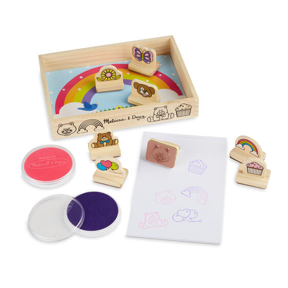 Melissa & Doug My First Wooden Stamp Set Favorites