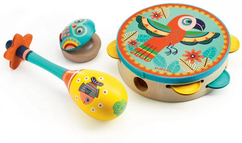 Animambo 3 pc Set Tambourine and Maracas