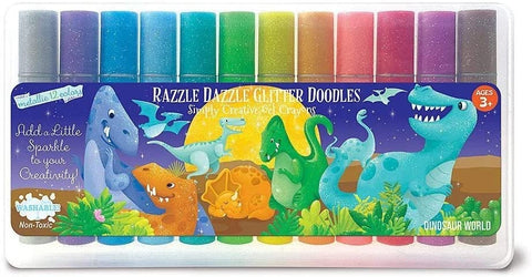 The Piggy Story Dazzle Dazzle Glitter Doodles Crayons