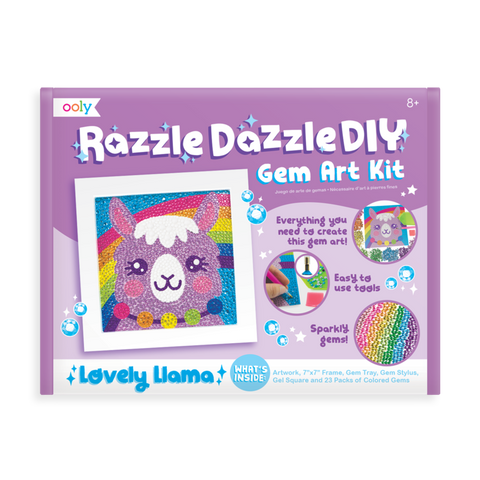 Ooly Razzle Dazzle DIY Gem Art Kit - Lovely Llama