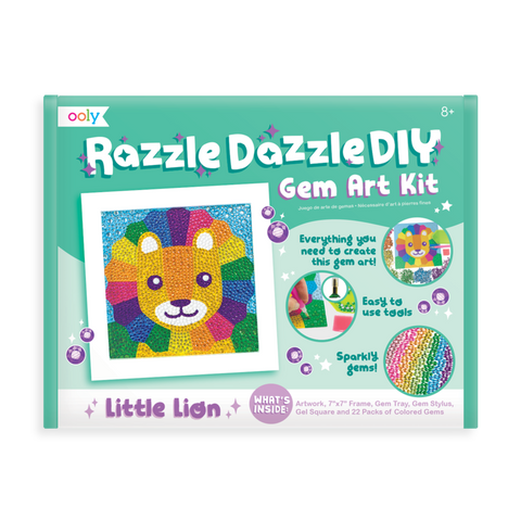 Ooly Razzle Dazzle DIY Gem Art Kit - Lil' Lion