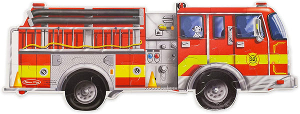 Giant Fire Truck Floor Puzzle 24 pieces