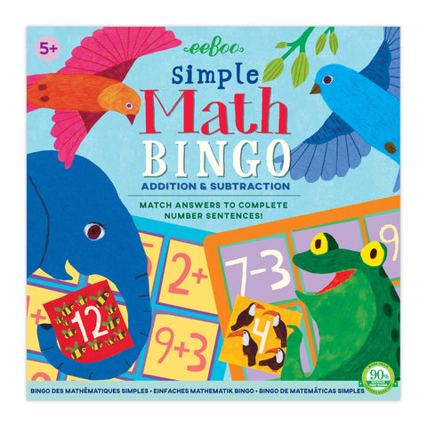 Eeboo Simple Math Bingo Addition and Subtraction